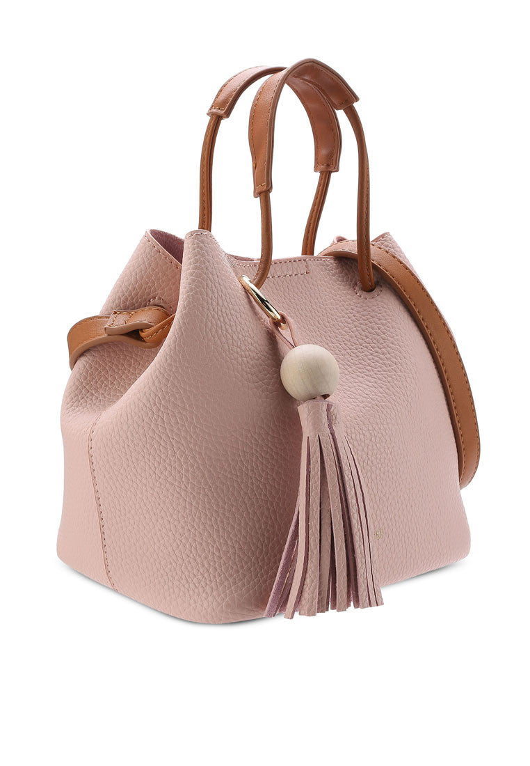 Casual Duo Tone Crossbody Bag