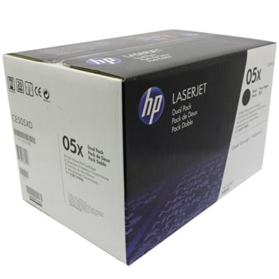 HP TONER 05X BLACK ORIGINAL DOUBLE PACK - CE505XD