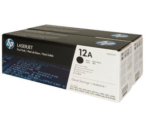 HP TONER 12A BLACK ORIGINAL DOUBLE PACK - Q2612AD