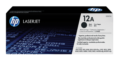 HP TONER 12A BLACK ORIGINAL – Q2612A