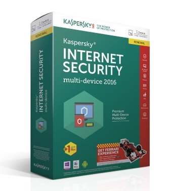 KASPERSKY INTERNET SECURITY MULTI-DEVICE LICENSE 1PC / 3PC 1Y + 3M GRATIS