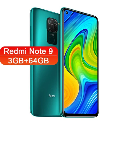 SMARTPHONE XIAOMI REDMI NOTE 9 NFC 6,52''/ 48MP AI QUAD CAMERA/ 3GB-64GB/4GB-128GB/ANDROID