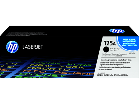 HP TONER 125A BLACK ORIGINAL – CB540A