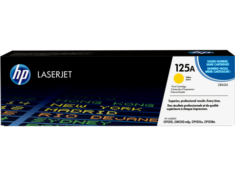 HP TONER 125A YELLOW ORIGINAL – CB542A