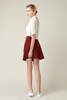 Burgandy Suede Leather Skirt