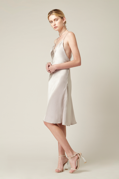 Silk Satin Bias Dress