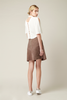 Lamb Suede Leather Skirt