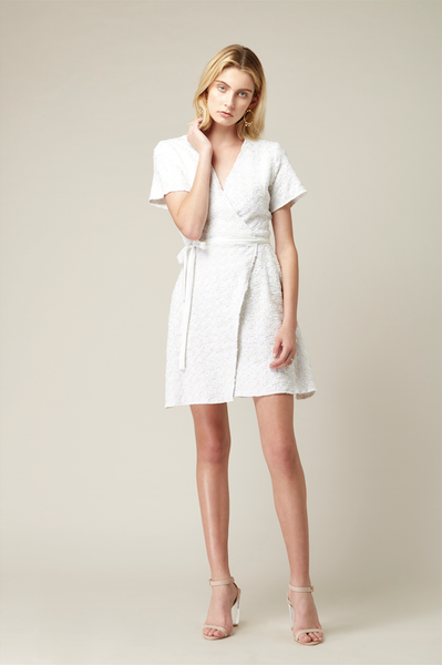 Twill Wrap Dress