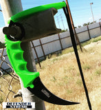 Defender Xtreme Zombie Green Skinner Couteau Couteau Sharp Avec Gaine