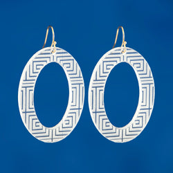 Plexi Oval Earrings