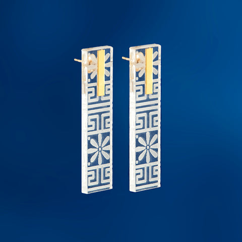 Plexi Long Earrings
