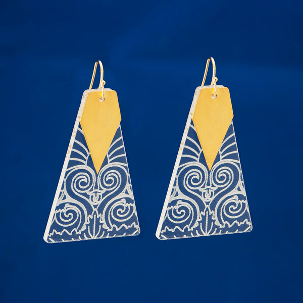 Plexi Statement Earrings Triangles