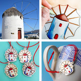 Mykonos Windmill Necklace
