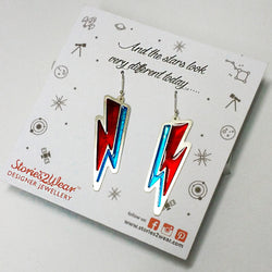 David Bowie Thunderbolt Earrings