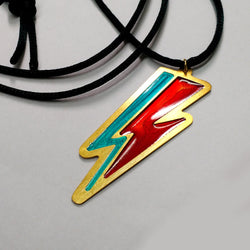 David Bowie Thunderbolt Necklace