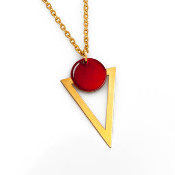 Circle & Triangle Necklace