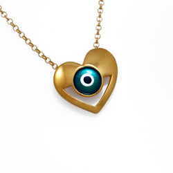Silver Iris Heart Necklace