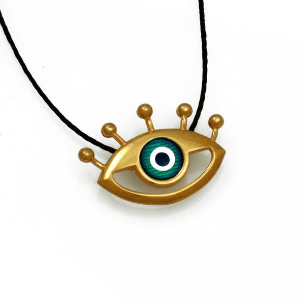 Silver Iris Eye Necklace