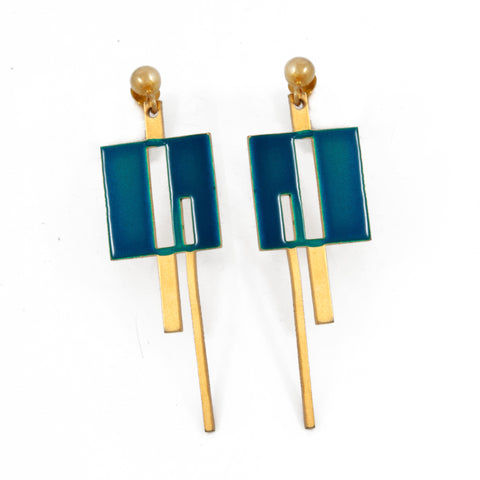Square & Line Earrings