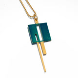Square & Line Necklace
