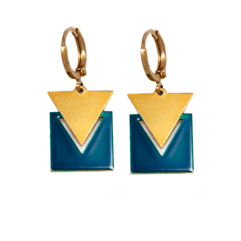 Triangle & Square Earrings