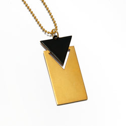 Triangle & Rectangle Necklace