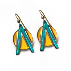 Triangle & Circle Earrings