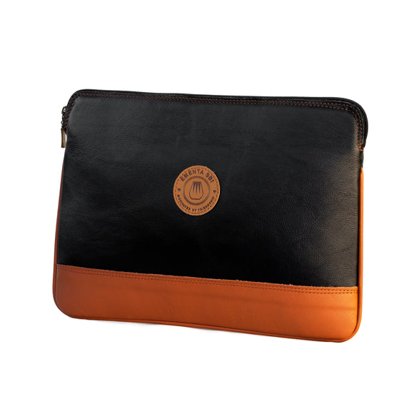 Laptop Black / Camel Leather Sleeve