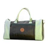 E-Duffel Black / Mint Green Leather Bag
