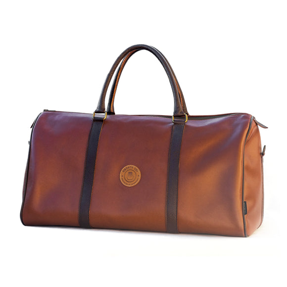 E-Duffel Light Brown Leather Bag