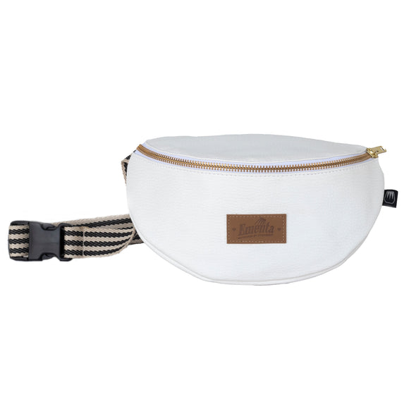 Frei White / Gold Fanny Pack