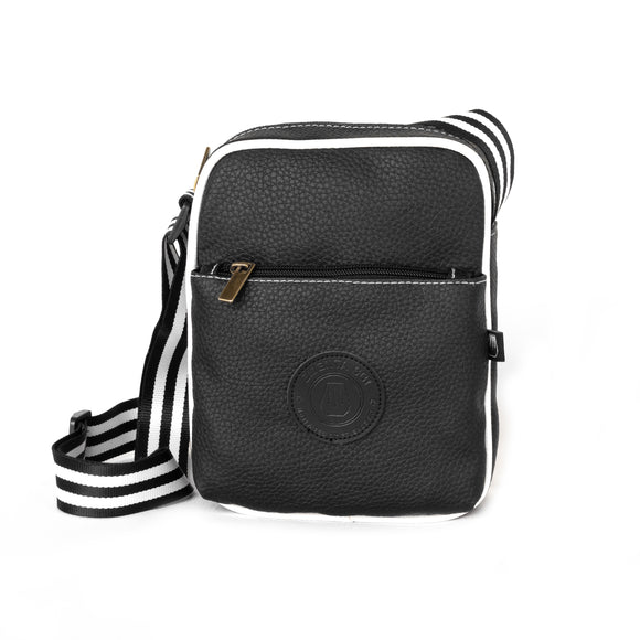 Square Bag Stripes Black