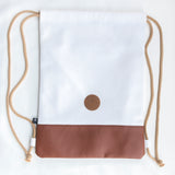 Maré Viva White / Light Brown Bag