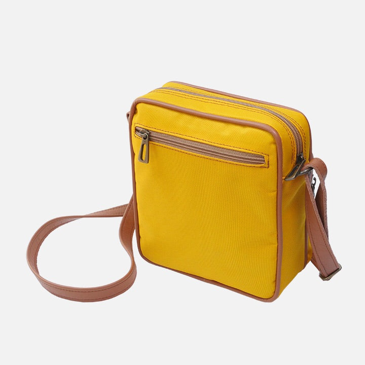 Square Bag Yellow Canvas