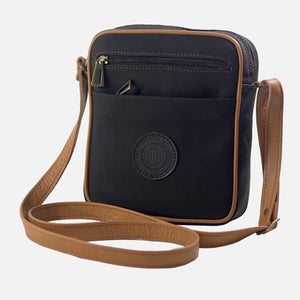 Square Bag Black/Brown Canvas