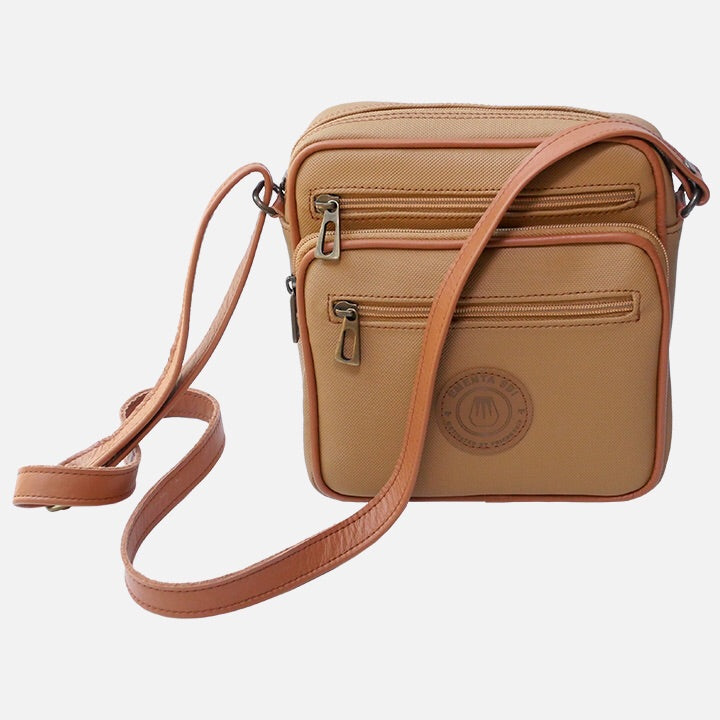 Square Bag Light Brown Canvas
