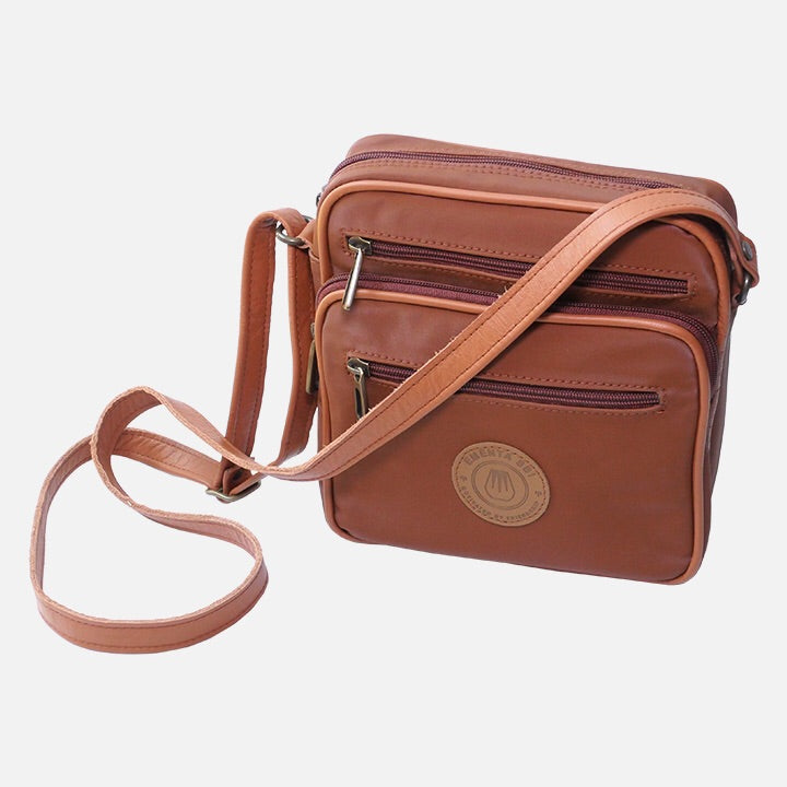Square Bag Brown Canvas