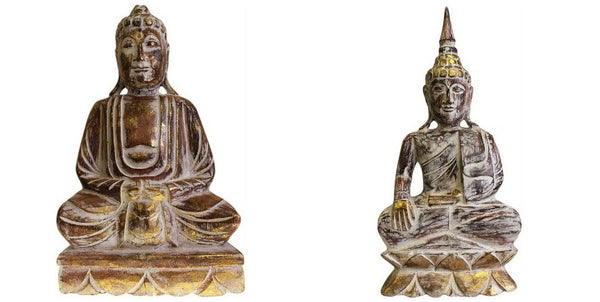 Carved Wooden Albesia Buddhas