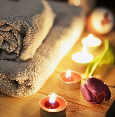 massage aroma candles