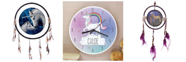 unicorn wall art clock