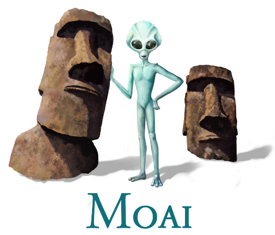 Moai - Easter Island - Women's Fitted T-Shirts