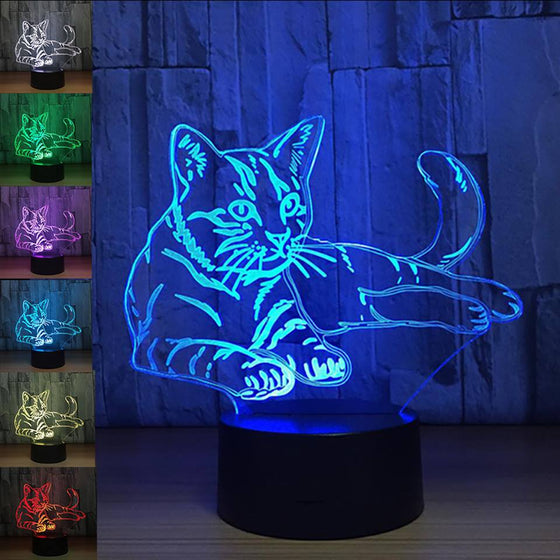 3D Cat LED Night Light