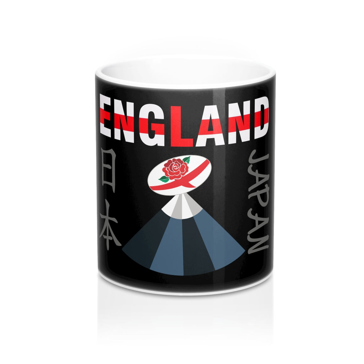 England Rugby World Cup 2019 Japan Mug 11oz Black