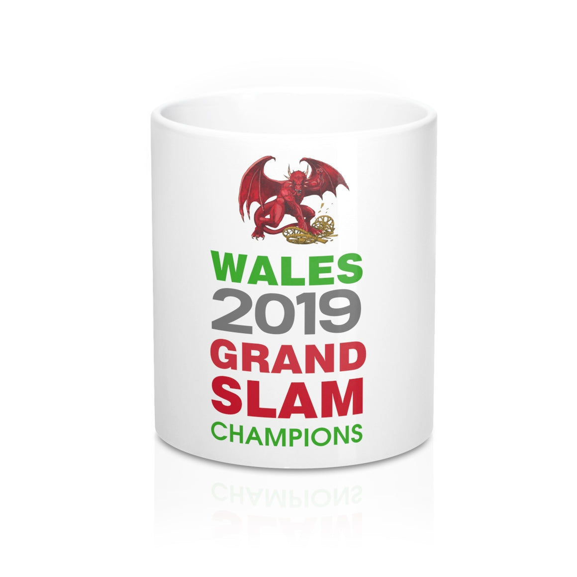 Wales 2019 Grand Slam Champions Mug 11oz White