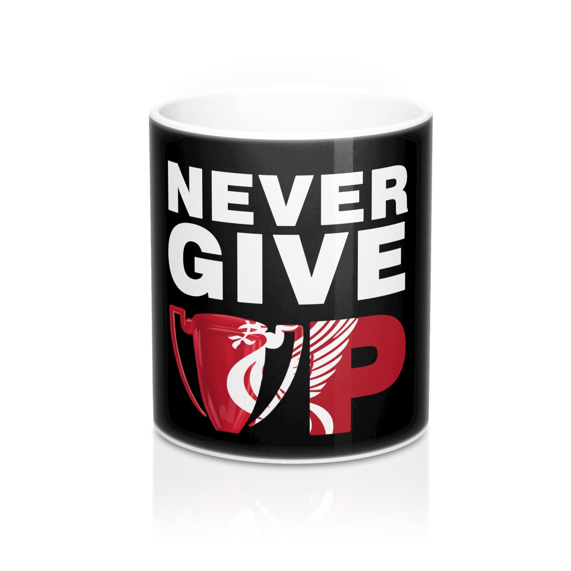 Never Give Up Liverpool Mug rugby