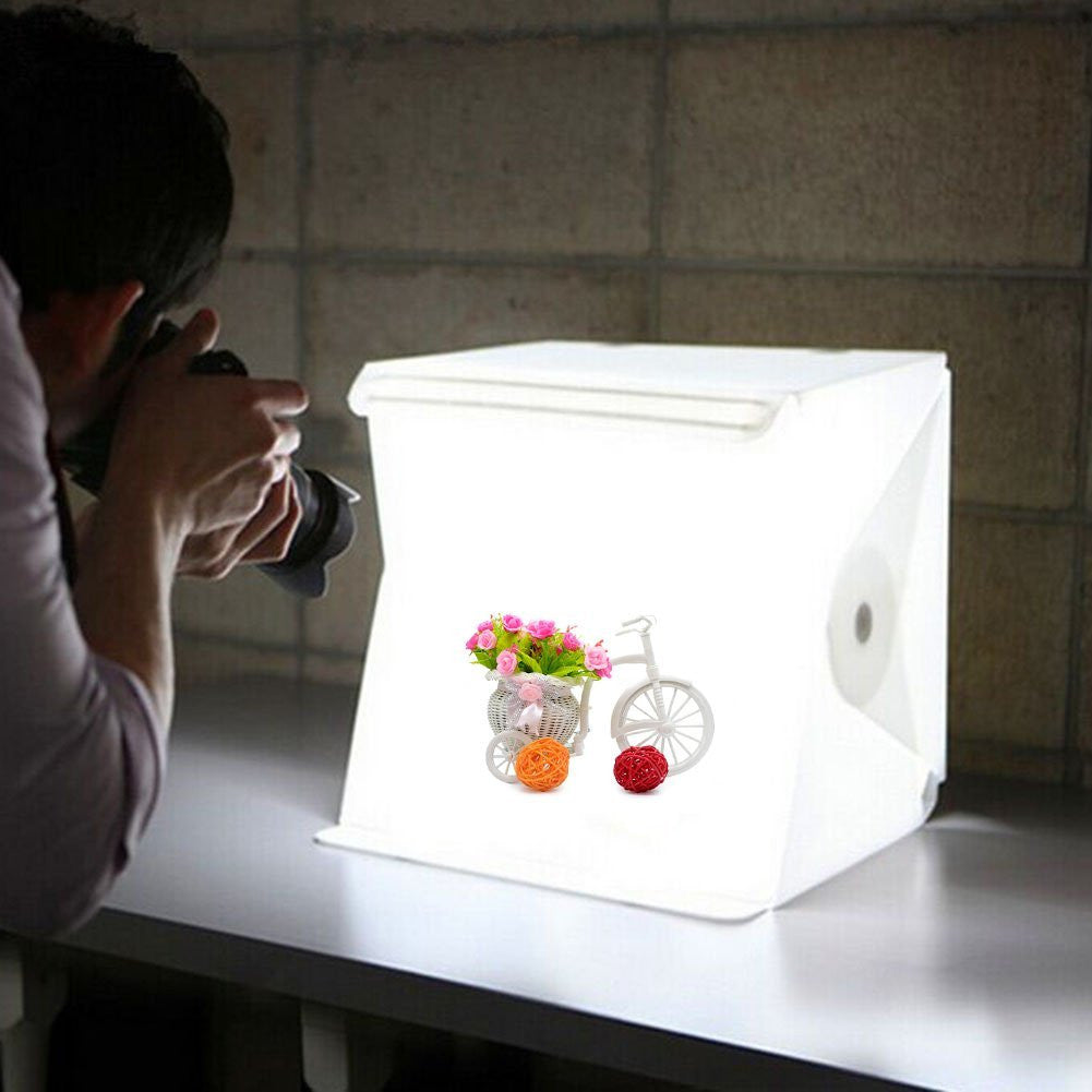 Portable Folding Light Box Photography Photo Studio box with LED Lighting