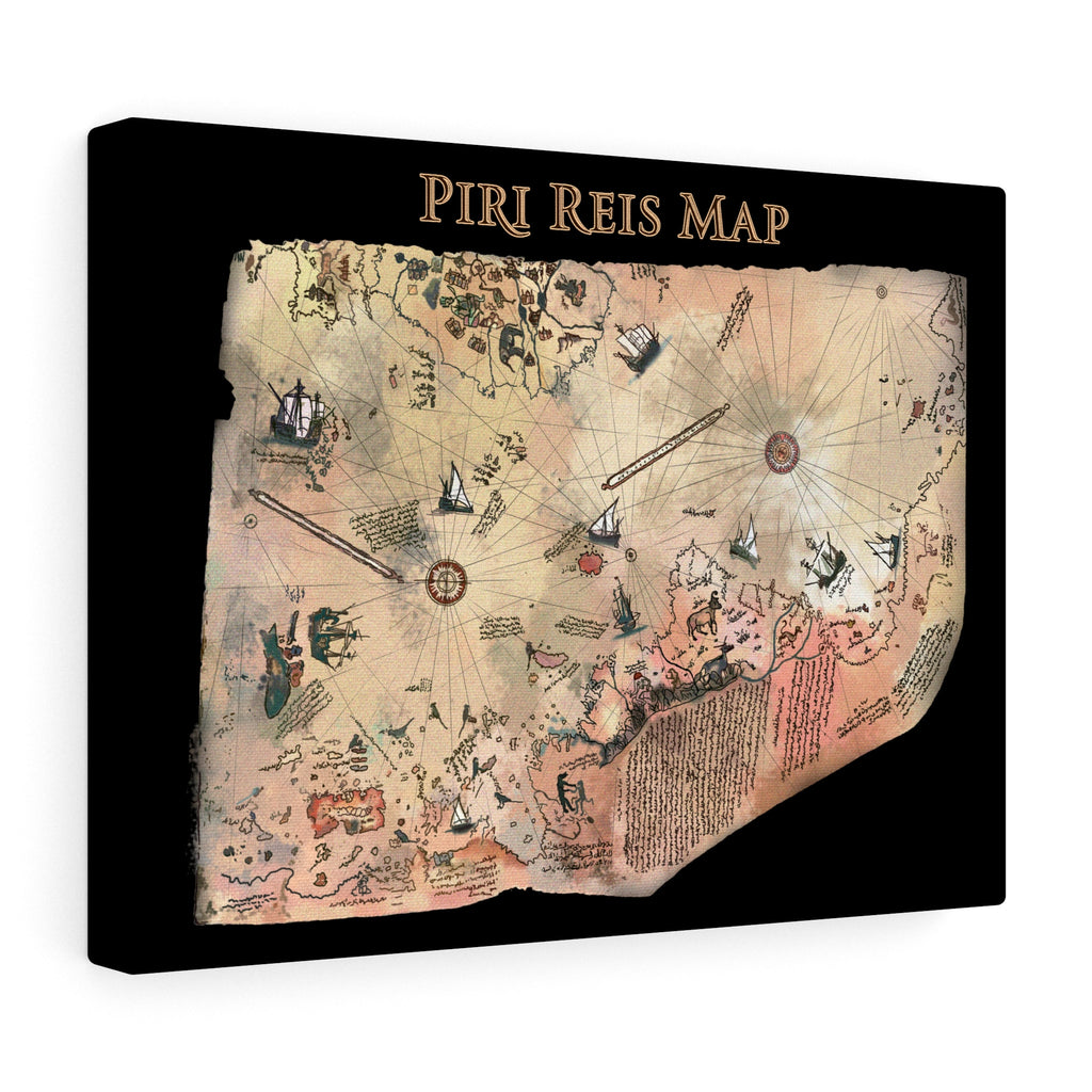 Piri Reis Map - Stretched canvas - Art