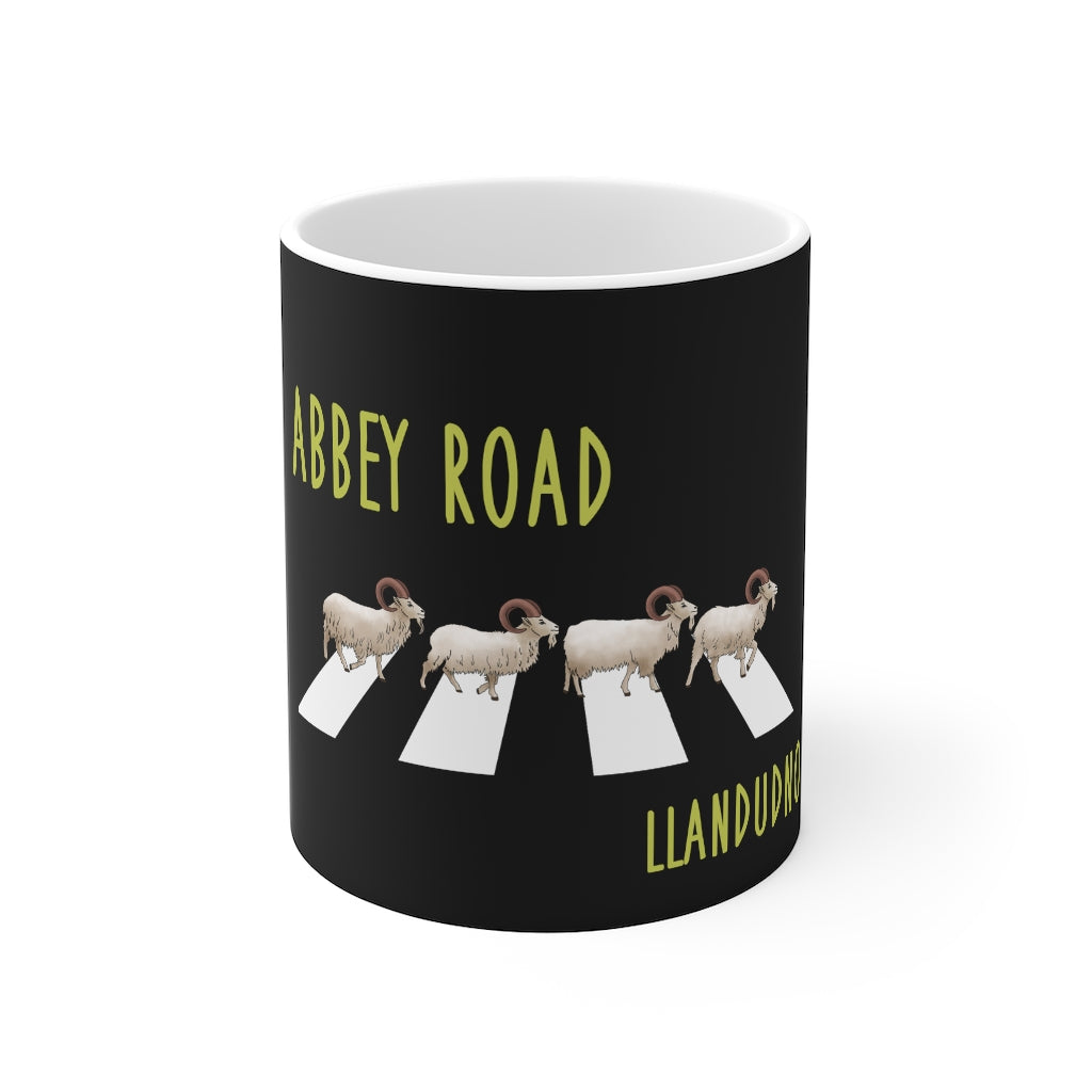 Abbey Road Llandudno Goats Mug 11oz Black