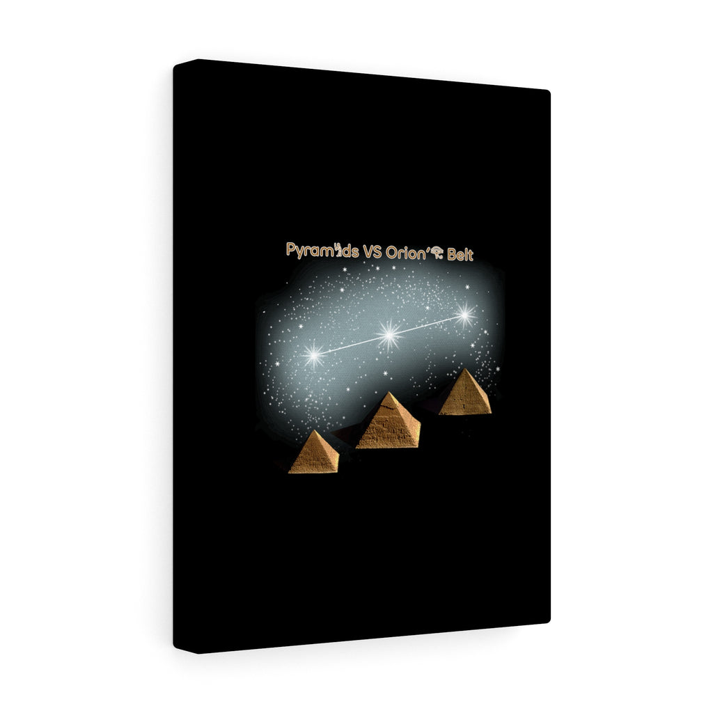 Pyramids Vs Orion's Belt - Stretched Canvas - Art
