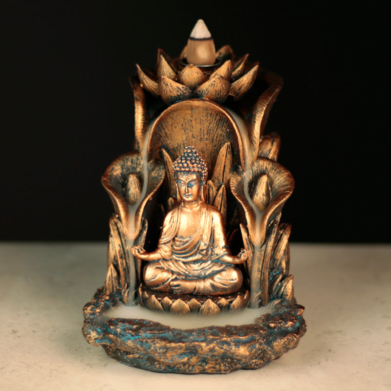 Lotus Thai Buddha Backflow Incense Burner